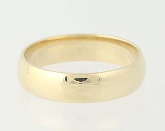 Men's Wedding Band - 10k Yellow Gold Ring Size 11 3/4 N4782