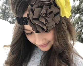 Double Flower Headband