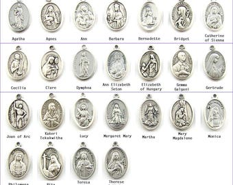 Add a Catholic Female Saint medal to your purchase