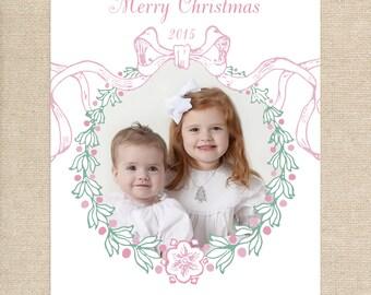 Wreath Photo Christmas Card