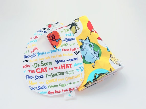 Dr. Seuss Bib and Burp Cloth Set - Gender Neutral Print