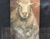 Samuel the sheep wood print
