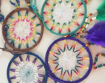 "Colorful Dreamcatcher 4.5"" diameter"