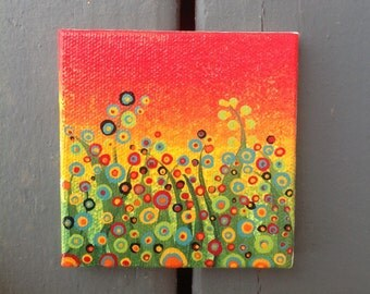 Field of Flowers Mini Canvas Painting