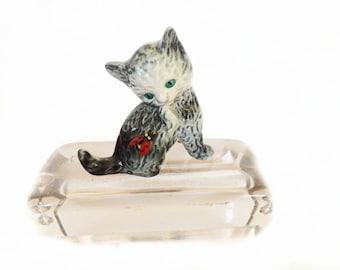 Vintage Cat Figurine, Goebel Cat, Goebel Figurne, Germany, Home Decor, Cat Decor, Miniature Cat, Kitten Decor, Office Decor