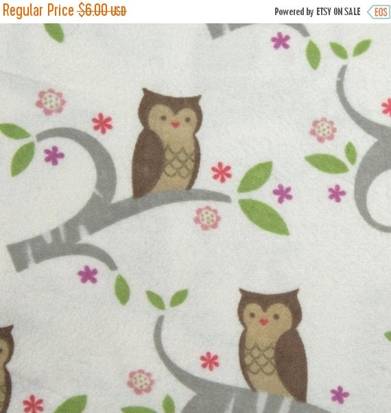 Flannel fabric,Owl flannel fabric,Nursery flannel fabric,100% cotton flannel fabric,Quilt flannel fabric,Craft flannel fabric,By the YARD