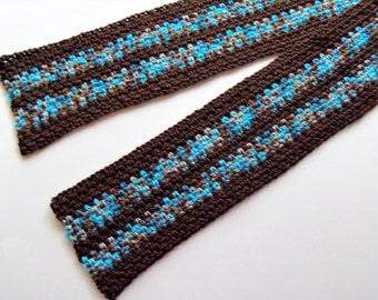 Linen Weave Scarf - Icy Path Linen Stitch Scarf