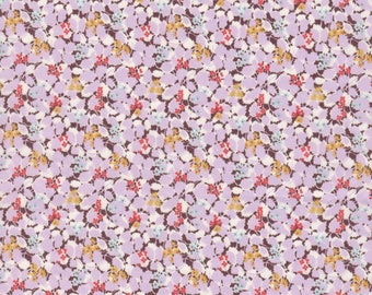 "Liberty Tana Lawn fabric HEDGEROWS - 17"" wide x 13"" (43cm x 33cm) - pink, violet"