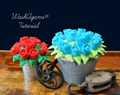 Washcloth Roses, Baby Was...