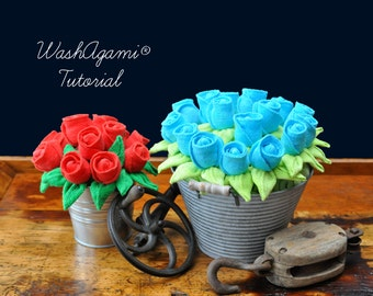 Washcloth Roses, Baby Washcloth Rose , WashAgami ® , Instructional Video