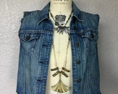 Vintage Levi's Women's Distressed Denim Vest Size Small-Medium