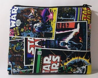 """Pipe Pouch, Pipe Bag, Star Wars Bag, Pipe Case, Padded Pouch, 420, Smoke Bag, Zipper Bag, Nerd Gift, Cannabis, Stoner, 7.5"""" x 6"""" - X LARGE"""