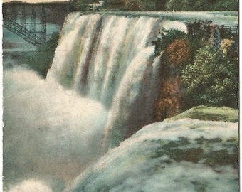 American Falls from Goat Island Niagara Falls New York 1907 Vintage Postcard