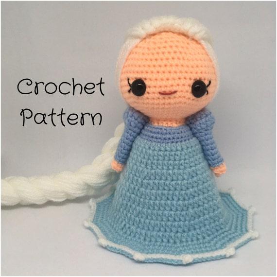Crochet Frozen Doll : Elsa Frozen Doll Crochet doll Pattern - PDF Pattern ...