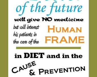 """Edison Doctor of the Future Quote Poster - 18"""" X 24"""""""