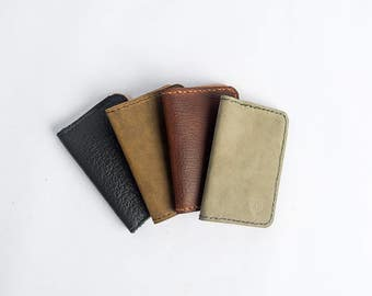Oiled Leather Front Pocket Wallet : Made to Order
