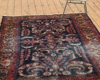 DISCOUNTED 5x6 Vintage Persian Lilihan Square Rug