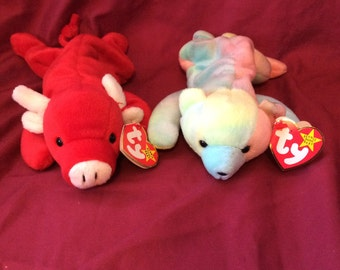 Rare Tabasco and Sammy TY Beanie Babies with errors on tags
