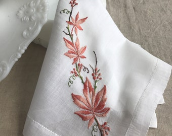 RESERVED Do Not Purchase Vintage Embroidered Hanky 1429