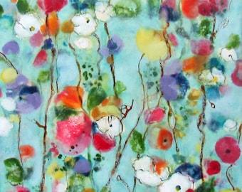 Original Encaustic Painting - Floral Painting - Wildflowers in Spring - Encaustic Art - Beeswax Art - KLynnsArt