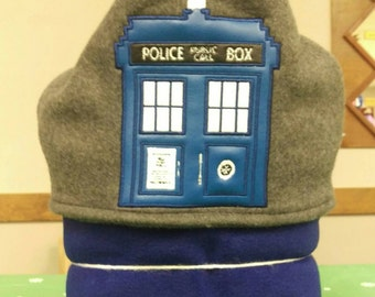 Police Public Call Box Hooded Blanket