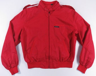 Vintage Red Members Only Racer Cafe Jacket sz. 42