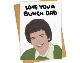 DAD BUNCHES . TV land . Greeting Card . Mother's Day . Kraft Envelope