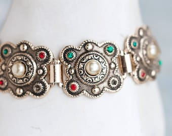 Boho Links Bracelet - Pretty Vintage Jewelry