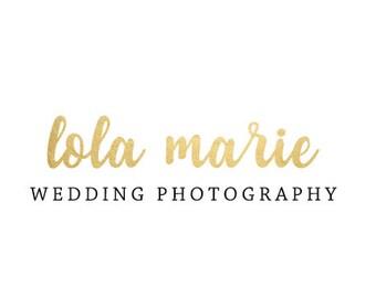 premade logo - logo design, photography logo, gold logo, business logo, handwritten calligraphy logo, etsy shop branding, blog logo