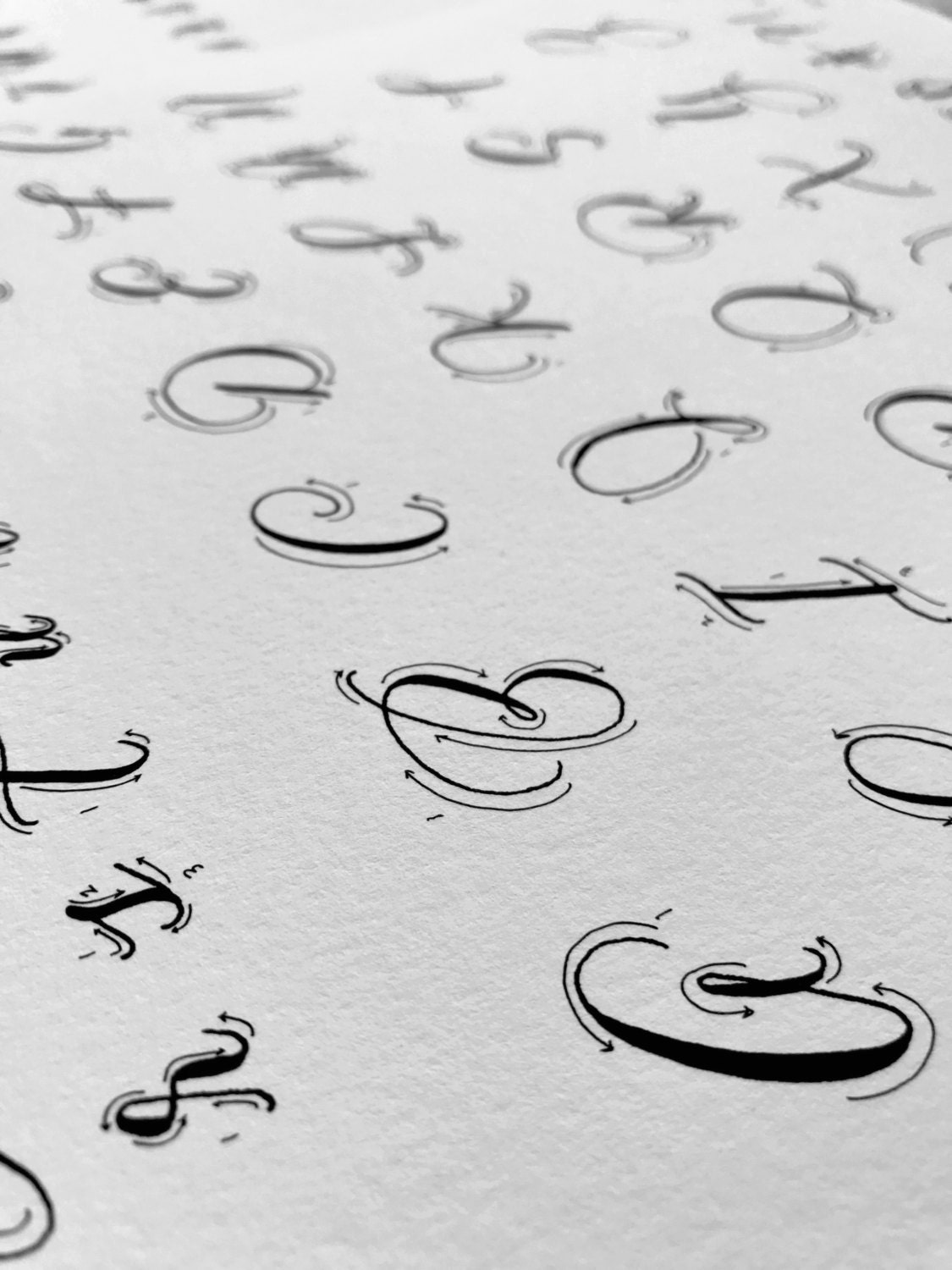 Calligraphy Alphabet Practice Printable Worksheet