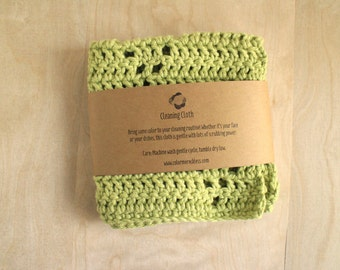 Washcloth - 100% Cotton - Light Green