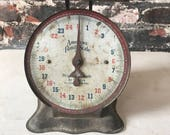 Vintage antique farmhouse kitchen scale counter scale shabby chic American Family Scale