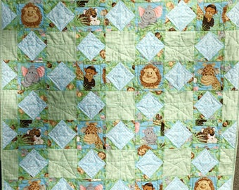 Baby Quilt, Jungle Babies