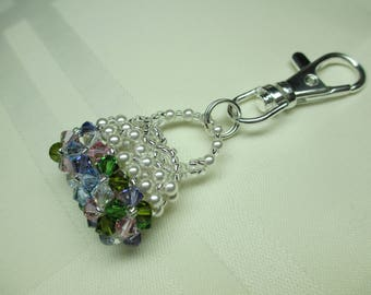 Crystal Purse Charm or Zipper Pull in Pastels 2