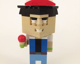 Lego Pokemon Ash Ketchum custom build