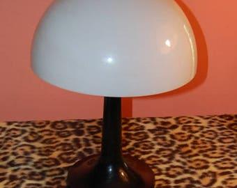 Mod Mushroom Dome Lamp Vintage 70's Acrylic Plastic Mid Century Modern Table Lamp Psychedelic Wild