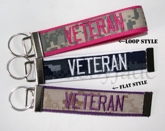 VETERAN KEY chain ~ my hero ~ madebyjadeb ~ key fob ~ personalized key chain