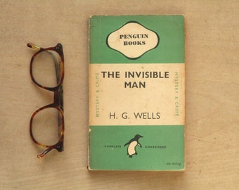 The Invisible Man by H. G. Wells vintage penguin paperback book