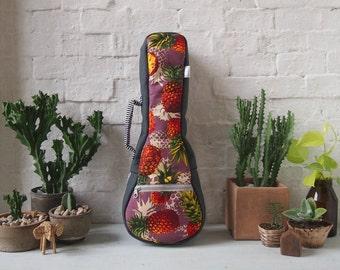 Soprano Ukulele Case - Pineapple - Ukulele Case with removable strap (Ready to shop)