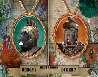 Neapolitan Mastiff Jewelry. Neapolitan Mastiff Pendant or Brooch.Neapolitan Mastiff Necklace.Neapolitan Mastiff  Portrait.Custom Dog Jewelry