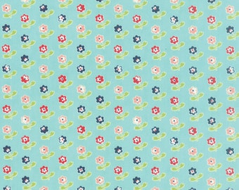 Vintage Picnic Aqua cotton fabric by Bonnie and Camille for Moda fabric 55121 12