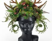 Nature Headdress with Antlers
