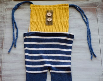 LARGE Yellow & Blue romper - photo prop