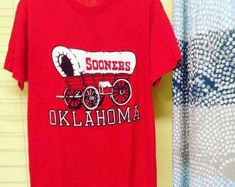 Vintage OU Sooners tee
