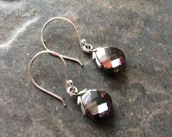 NEW Swarovski Twilight  briolette earrings Sterling Silver Earrings Wedding Jewelry Prom Jewelry