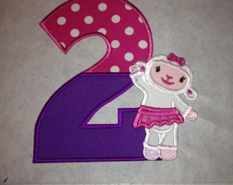 Lambie number  iron on patch