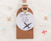I'll Fly Away Leather Luggage Tag