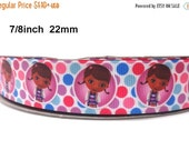 """50% Doc McStuffins Grosgrain Ribbon 7/8"""" Grosgrain Ribbon By The Yard For Hair Bows Gift Wrapping Scrap Booking Crafts"""
