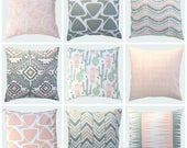 NEW! Spring Collection Collection. Pillow Covers. Decorative Pillow. Floral Pillows. Geometric Pillows. Throw Pillow Cover. Peach Pillows.