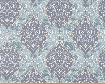 Fabric Yardage Amethyst Virgina Fabric - Premier Prints Fabric - Blue Fabric - Fabric by the Yard